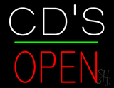 CDs Open Block Green Line LED Neon Sign