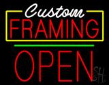 Custom Framing Open Green Line LED Neon Sign