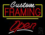 Custom Framing Open Yellow Line LED Neon Sign