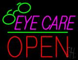 Pink Eye Care Logo Block Open Green Line LED Neon Sign