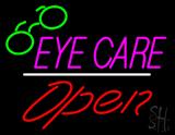 Eye Care Logo Red Open White Line LED Neon Sign