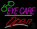 Eye Care Logo Open Yellow Line LED Neon Sign