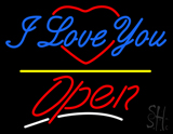 I Love You Logo Open Yellow Line LED Neon Sign