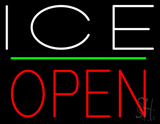 White Ice Open LED Neon Sign
