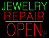 Jewelry Repair Block Open Green Line LED Neon Sign