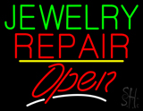 Jewelry Repair Script2 Open Yellow Line LED Neon Sign