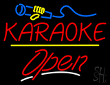 Karaoke Logo Open Yellow Line LED Neon Sign