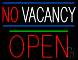 No Vacancy Block Red Open Green Line LED Neon Sign