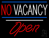 No Vacancy Open White Line LED Neon Sign