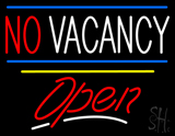 No Vacancy Open Yellow Line LED Neon Sign