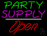 Party Supply Open White Line Neon Sign