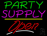 Party Supply Open Yellow Line Neon Sign