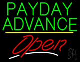 Payday Advance Open Yellow Line LED Neon Sign