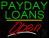 Payday Loans Open Yellow Line LED Neon Sign