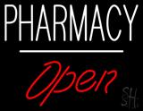 Pharmacy Open White Line LED Neon Sign