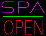 Pink Spa Red Open LED Neon Sign