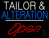 Tailor and Alteration Open White Line LED Neon Sign