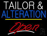 Tailor and Alteration Open Yellow Line LED Neon Sign