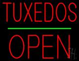 Tuxedos Block Green Line Open  LED Neon Sign