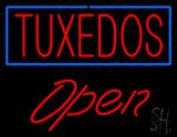 Tuxedos Rectangle Open LED Neon Sign