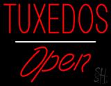 Tuxedos Open White Line LED Neon Sign