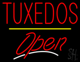 Tuxedos Open Yellow Line LED Neon Sign