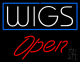 White Wigs Red Open LED Neon Sign