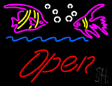 Fish Logo Open LED Neon Sign