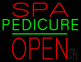 Red Spa Pedicure Block Open LED Neon Sign