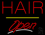 Red Hair Open Yellow Line LED Neon Sign