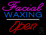 Pink Facial Waxing Red Open LED Neon Sign