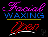 Pink Facial Waxing Yellow Line Open LED Neon Sign
