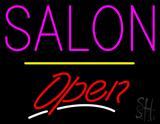 Salon  Open Yellow Line LED Neon Sign