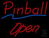 Red Pinball Open Neon Sign