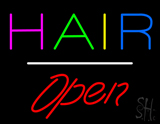 Multicolored Hair Open White Line LED Neon Sign