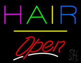Multi Colored Hair Open Yellow Line LED Neon Sign