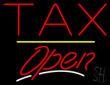 Tax Open Yellow Line LED Neon Sign