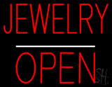 Jewelry Block Open White Line LED Neon Sign