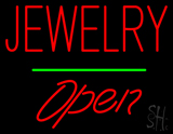 Jewelry Open Green Line LED Neon Sign