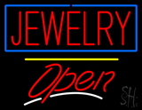 Jewelry Blue Border Open Yellow Line LED Neon Sign