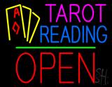 Tarot Reading Open Block Green Line LED Neon Sign