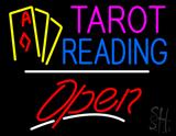 Tarot Reading Yellow Line Open LED Neon Sign