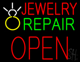 Jewelry Repair Block Open LED Neon Sign with Logo