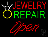 Jewelry Repair Open Logo LED Neon Sign