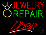Jewelry Repair Logo Open LED Neon Sign