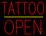 Tattoo Block Open Yellow Line LED Neon Sign