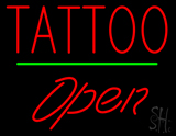 Tattoo Open Green Line LED Neon Sign
