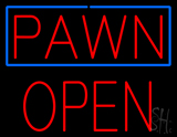 Red Pawn Block Open LED Neon Sign