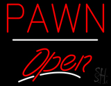 Pawn Open White Line LED Neon Sign