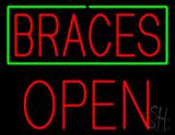 Braces Block Open LED Neon Sign